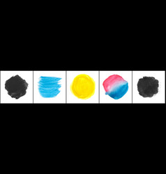 set watercolor stain vector image