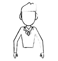 Sketchy man male faceless design vector