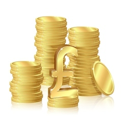 Stacks gold coins vector