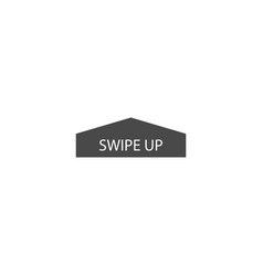 Swipe up icon vector
