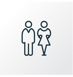 toilet icon line symbol premium quality isolated vector image