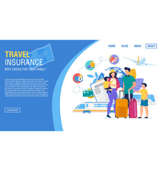 Tour agency landing page offer insurance service vector