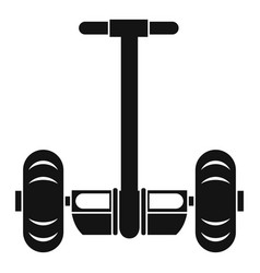 two wheeled battery powered vehicle icon vector image