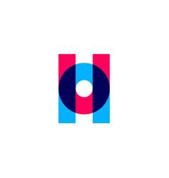 un h uhn uon letter logo icon lettermark sign vector image