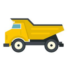 Yellow dump truck icon isolated vector