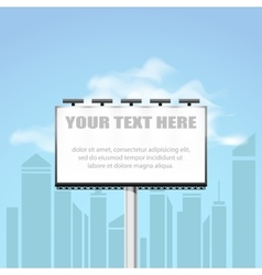 Big blank billboard in cityscape background shape vector image