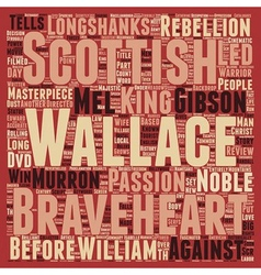 Braveheart dvd review text background wordcloud vector