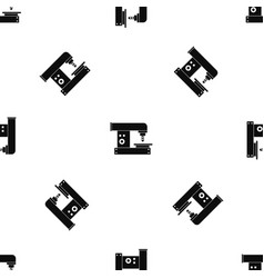 drilling machine pattern seamless black vector image vector image