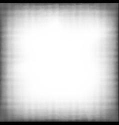 Halftone grunge pop art frame vector