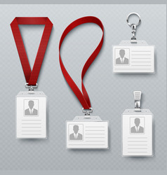 Id security cards and identification badge with vector