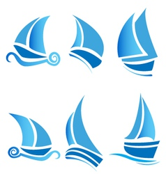 Set of boats vector image vector image