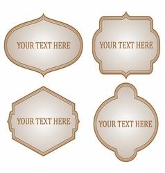 Vintage frames design vector image vector image