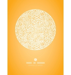 Golden lace roses circle vignette seamless pattern vector image