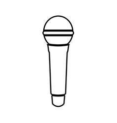 microphone black color icon vector image vector image
