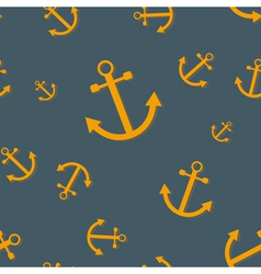 Seamless nautical pattern with anchors vector image vector image