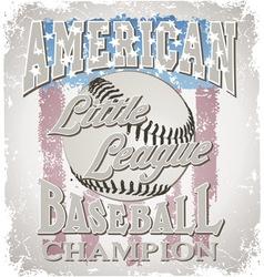 Baseball Little League vector image vector image
