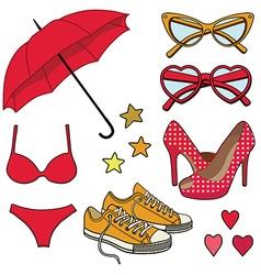 girlsset vector image