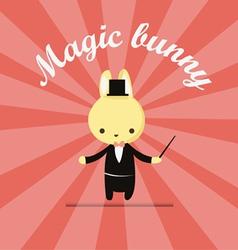 magic bunny 2 vector image vector image