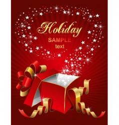 magic gift box vector image