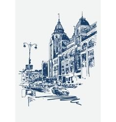 original digital sketch of Kyiv Ukraine town vector image vector image