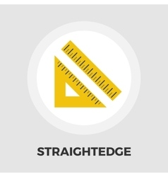 Straightedge icon flat vector image vector image