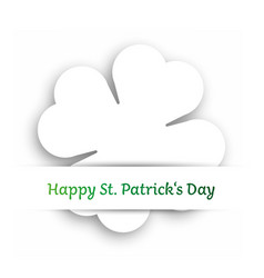 white cut out four leaf clover attached in the vector image