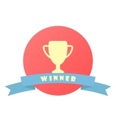 Winner sign with ribbon vector
