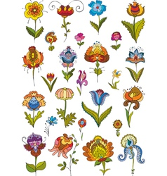 Flowers Set Isolated vector image