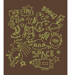 funny doodles vector image
