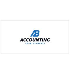 Ab accounting financial logo vector