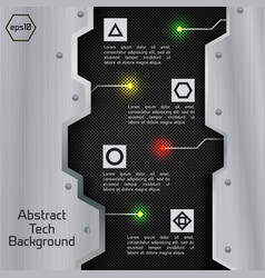 abstract circuit board infographics vector image
