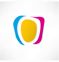 abstract icon based on the letter o vector image