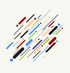 abstract of colorful stripes line pattern vector image