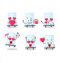 Aeropress cartoon character with love cute vector