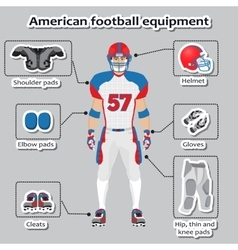 American football player equipment vector