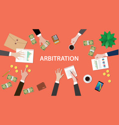 arbitration concept with people vector image