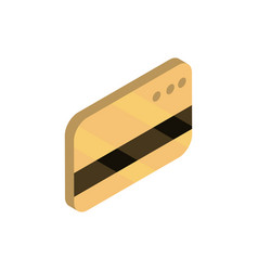 bank card online shopping isometric icon vector image