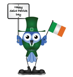 BIRD SAINT PATRICK DAY vector image