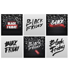 black friday sale poster background handwritten vector image