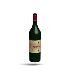 bottle of vine vector image