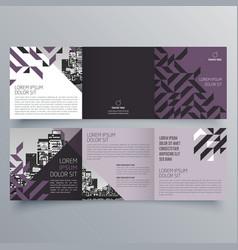 brochure design 819 vector image