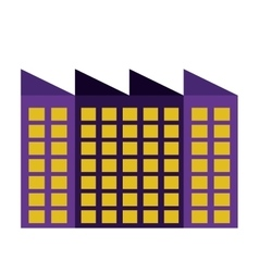 building of industrial plant isolated icon design vector image