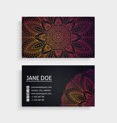 Business card vintage decorative elements vector