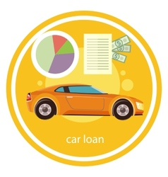 Car loan approved vector image