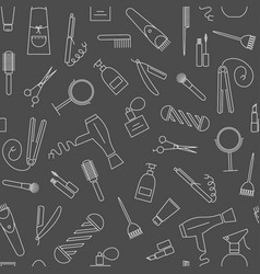 Carebeauty seamless pattern barber shop icons vector
