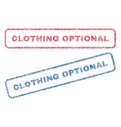 Clothing optional textile stamps vector