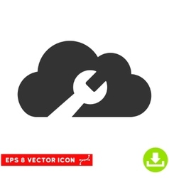 Cloud Wrench Tools Eps Icon vector
