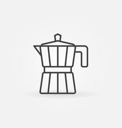 Coffee maker outline icon moka pot concept vector