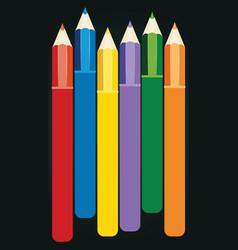 colorful pencils design vector image