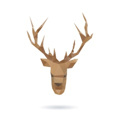 Deer head abstract isolated vector image